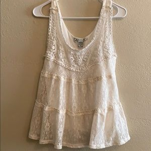 Babydoll style lace top